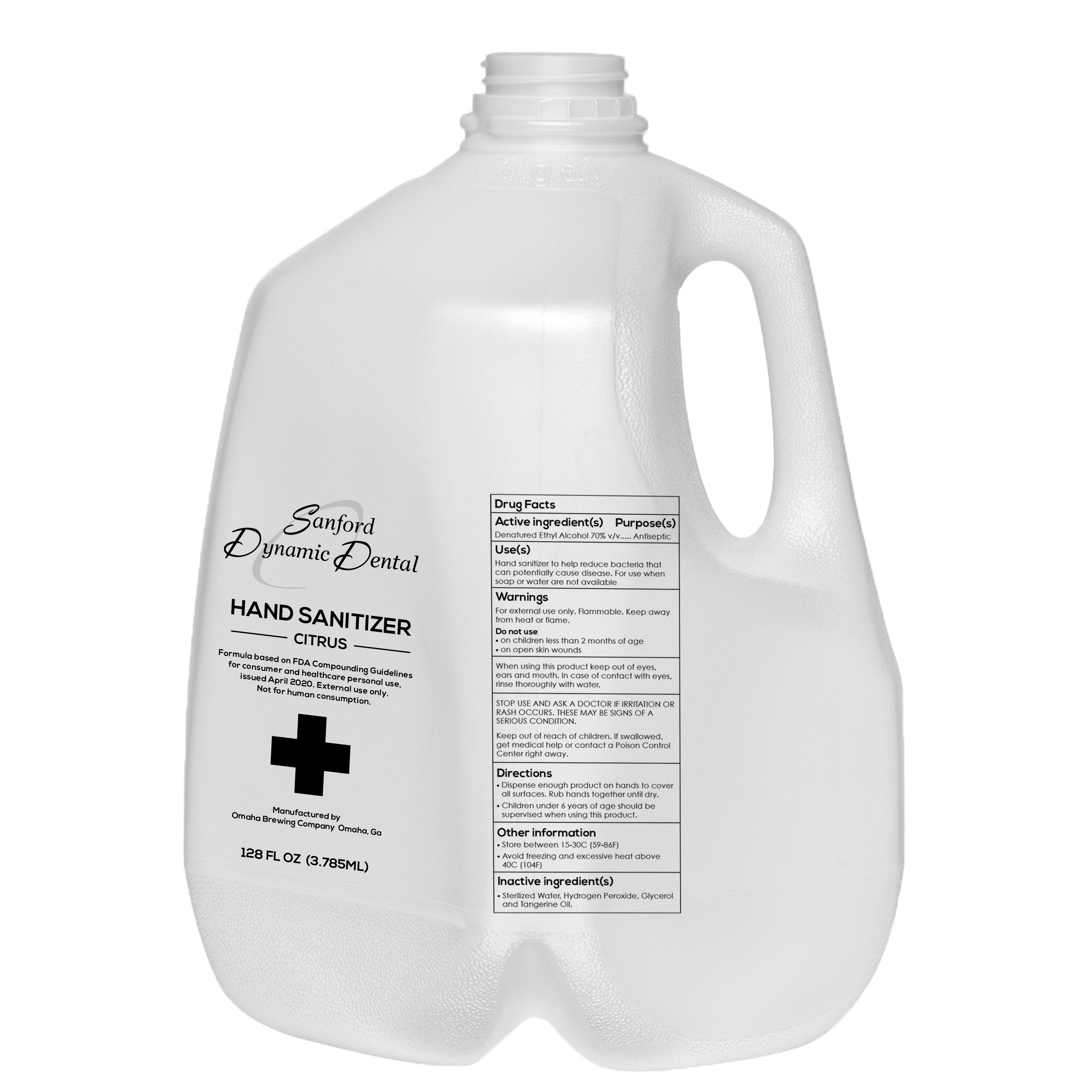 Liquid Hand Sanitizer —- (1 gallon) ($40/gallon) – Sanford DMD
